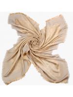 LOUIS VUITTON MONOGRAM CHAMPAGNE GOLD SILVER SHINE SHAWL SCARF (WITH FULL PACKING) - ผ้าพันคอหลุยส์ ลายโลโก้แบรนด์ สีน้ำตาลทอง ดิ้นเงิน