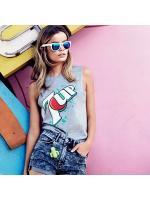 H&M 7UP PRINT DESIGN JERSEY TANK TOP เสื้อยืด H&M คอ กลม เเขนกุดสีเทา ลายเซเว่นอัพ พร้อมส่ง