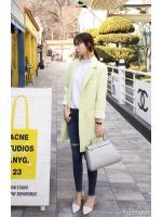 KOREAN WOMEN BLAZER SUIT COAT เสื้อสูทเกาหลี เสื้อสูทผู้หญิง เบลเซอร์ แจ็คเก็ต งานเกาหลี [Made in Korea] สีเขียวมะนาว มีไซส์ M, XL พร้อมส่ง