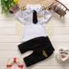 ชุดกัปตันเด็ก นักบินน้อยสุดเท่ห์ เสื้อสีขาว+กางเกงดำ Size 80-110