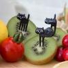 ไม้จิ้มขนมและผลไม้ลายแมวดำ