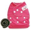 กางเกงผ้าอ้อมกันน้ำ+แผ่นซับชาโคลหนา5ชั้น Size 3-16 kg.-Dark Pink