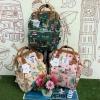 กระเป๋าเป้ Sun earth & U POLYESTER NYLON WATERPROOF RUCKSACK เป้รุ่นใหม่ลวดลายสไตล์วินเทจ