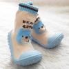 รองเท้าถุงเท้าพื้นยางหัดเดิน สีฟ้า ลายหมี Beary cute size 20-25