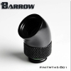 Barrow ข้องอ 45 Rotary Male - Female สีดำ
