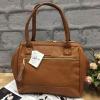 กระเป่า Anello PU Leather boston bag Camel Color ราคา 1,490 บาท Free Ems