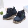 รองเท้าคัชชูเด็กชาย สีน้ำเงินสุดเท่ ผูกเชือกหลอก มีซิปข้าง Size 21-30