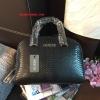 กระเป๋า GUESS CROC LEATHER BOWLING BAG สีดำ