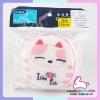 ฟองน้ำผ้าขนหนู PAPA ลายแมวน้อยน่ารักสีชมพู