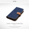 Zenus Denim Vintage Pocket Diary for Galaxy S7