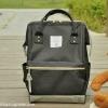 กระเป๋า ANELLO X PAGEBOY สีดำ Regular size สีใหม่ วัสดุ Polyester canvas สลับหนังกลับ ปากกระเป๋าเปิดปิดด้วยซิปคู่และม