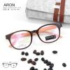 ARON - brown orange แว่นทรงเหลี่ยม ULTEM กว้าง 140 มม. (size M)