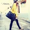 กระเป๋าถือสะพายหนัง ใบใหญ่ สีดำ แฟชั่นสุดฮิต สาว fashionista ไม่ควรพลาด HOT & SASSY FASHION BAG ราคา 990 ส่งฟรี ems
