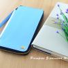 กระเป๋าสตางค์ใส่โทรศัพท์ ใบยาว ซิปรอบ Primprai ziparound wallet สีฟ้า