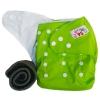 กางเกงผ้าอ้อมกันน้ำ+แผ่นซับชาโคลหนา5ชั้น Size 3-16 kg.-Green