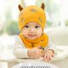 AP226••เซตหมวก+ผ้ากันเปื้อน•• / ดวงตา [สีเหลือง]