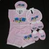 ชุดเด็กอ่อน C-002 เซ็ท 8 ชิ้น - Pink