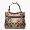 กระเป๋า Coach POPPY EMBROIDERED SIGNATURE C GLAM TOTE F21184