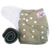 กางเกงผ้าอ้อมกันน้ำ+แผ่นซับชาโคลหนา5ชั้น Size 3-16 kg.-Gray