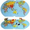 ของเล่นจับคู่ แผนที่โลก+ธงประจำชาติ 2 ภาษา ขนาดจัมโบ้ 60 * 39 * 1 ซม.