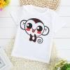 เสื้อยืดเด็กเล็ก ลายลิงน้อย มีกระดุมข้างคอ สำหรับเด็กวัย 2-4 ปี