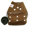กางเกงผ้าอ้อมกันน้ำ+แผ่นซับชาโคลหนา5ชั้น Size 3-16 kg.-Dark Brown