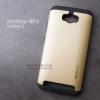 เคส Zenfone MAX เคส (SLIM HYBRID BUMPER - 2ส่วน) เคสนิ่มพร้อมขอบบั๊มเปอร์ สีดำ/ทอง