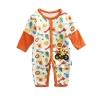 ชุดหมีเด็ก จั๊มสูทแขนยาวขายาว Cuddle me ลายยีราฟสีส้ม สำหรับเด็ก 6-18 เดือน