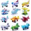 ของเล่นไม้ เครื่องบินลำเล็ก (mini airplane) ล้อหมุนได้สมจริง