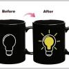 แก้วกาแฟหลอดไฟปิ้ง IDEA