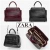 กระเป๋า ZARA Croc MINI CITY BAG สีดำ ราคา 1,290 บาท Free Ems