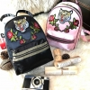 ALDO Grawn Satin Backpack with Tiger & Rose Patches
