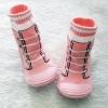 รองเท้าถุงเท้าพื้นยางหัดเดิน สีชมพูลายรองเท้า size 20-25