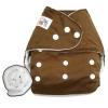 กางเกงผ้าอ้อมกันน้ำ+แผ่นซับไมโครฯหนา3ชั้น Size 3-16 kg.-Dark Brown