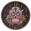 นาฬิกาหัวกระโหลก ทรงกลม Skull Wall Clock