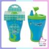 แก้วหัดดื่ม babito สเต็ป 1 สีฟ้า เขียว