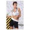 สปอร์ตบรา ชุดกีฬาผู้หญิง รุ่นซิปหน้า รองรับแรงกระแทกระดับ 4 ใส่สบาย - สีขาว