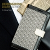 Zenus : Herringbone Diary Case Cover For Galaxy Note 3, III, N9000, N9005