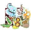 ของเล่นไม้ จิ๊กซอจับคู่สัตว์ป่า เสริมพัฒนาการ