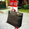MANGO Quilted Leather Casual Shopping Bags