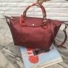 กระเป๋า KEEP Longchamp Style Duo Sister สีแดง กลิตเตอร์ ใบใหญ่ ราคา 1,490 บาท Free Ems #สีแห่งปีนี้เลยค่ะ