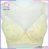 เสื้อชั้นในให้นมลูก มีโครง เสริมฟองน้ำ ลายจุดสีเหลือง รุ่นเปิดหน้า size 34/75 (แพ็ค 1 ตัว)