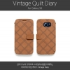 Zenus [Vintage Quilt Diary] Nubuck Leather Wallet Cover Case Samsung Galaxy S6