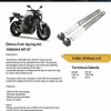 OHLINS Top cap and Sping Kit for Yamaha MT07
