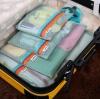 ชุดจัดกระเป๋าเดินทางตาข่าย 4 ใบ/ชุด จัดกระเป๋าเดินทาง แบ่งสัมภาระให้เป็นสัดส่วน (4 in 1 Travel Mesh Organizer Bags)