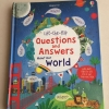 หนังสือเปิดสนุก Questions & Answers About Our World Board Books by Usborne