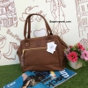 กระเป่า Anello PU Leather boston bag Brown Color