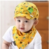 หมวกเด็ก+ผ้ากันเปื้อน สีเหลือง