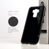 """เคส Zenfone 3 Max 5.5"""" (ZC553KL) เคสนิ่มผิวเงา GLOSSY BLACK พร้อมจุดขนาดเล็กป้องกันเคสติดกับตัวเครื่อง สีดำทึบ"""