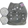 กางเกงผ้าอ้อมกันน้ำ เด็ก 2-5 ขวบ รอบเอว 14-28 นิ้ว +แผ่นซับจัมโบ้ 2แผ่น -Gray